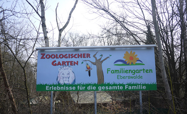 Schild am Zoo in Eberswalde // HIMBEER