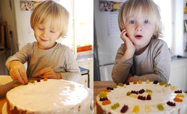 Milchfreier Kindergeburtstagskuchen: Möhrenkuchen // HIMBEER