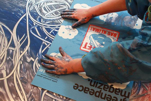 DIY-Projekt mit Kindern: Farbdrucke // HIMBEER