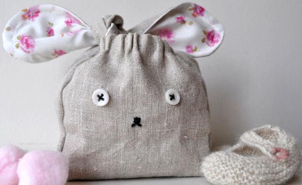Häschentasche selber nähen – DIY-Idee zu Ostern für Kinder // HIMBEER