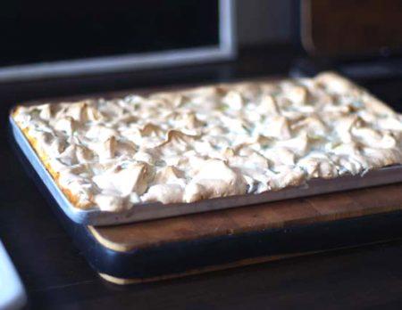 Rezept für Rhabarber-Baiser-Kuchen // HIMBEER