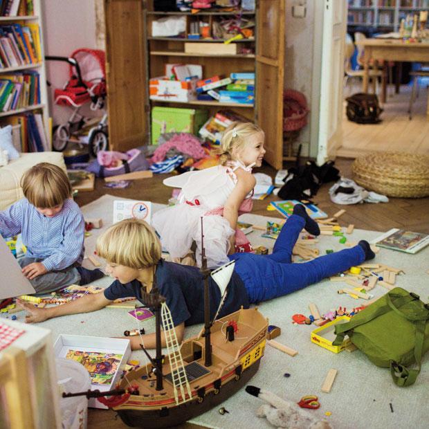Drei Kinder verursachen schnell viel Unordnung // HIMBEER