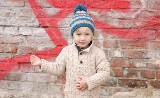Kinder Bommelmütze Selber Machen Strickanleitung Himbeer