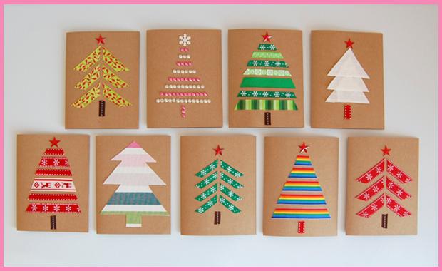 Elegant Basteln Mit Kindern: Weihnachtskarten Selber Machen // HIMBEER