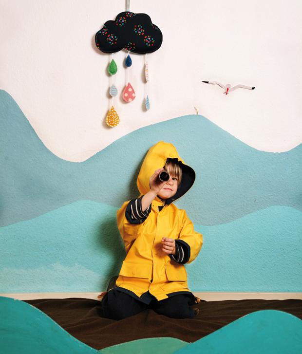 Nähanleitung: Wolken-Mobile für Kinder // HIMBEER