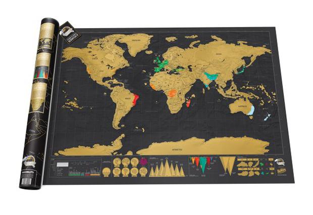 Weltkarte zum Freirubbeln // HIMBEER
