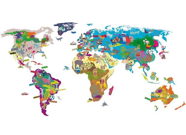 Kinderzimmer: Weltkarten für Kinder – Lieblingssachen // HIMBEER