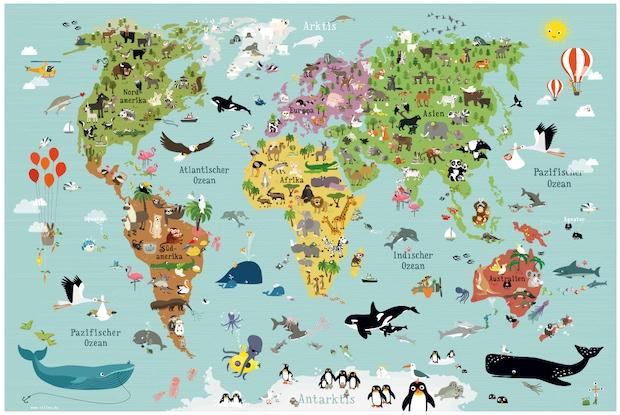 Weltkarten für Kinder // HIMBEER