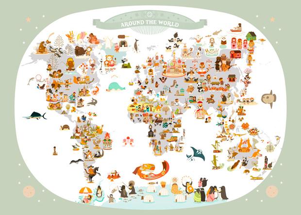 Kinderzimmer: Weltkarten für Kinder | HIMBEER Magazin