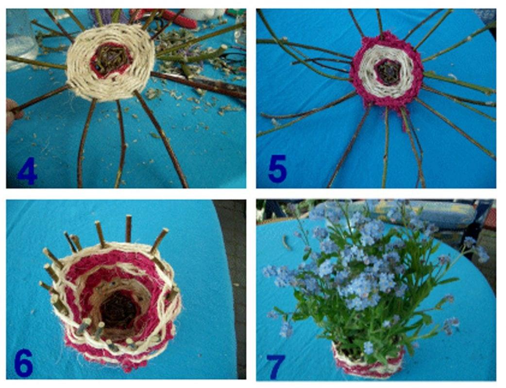 DIY für Kinder: Blumentopf aus Wolle selber machen // HIMBEER