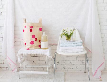 Wäschekorb nähen und bedrucken – DIY-Idee // HIMBEER