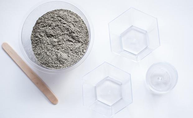 Material für DIY-Beton-Kerzenhalter // HIMBEER