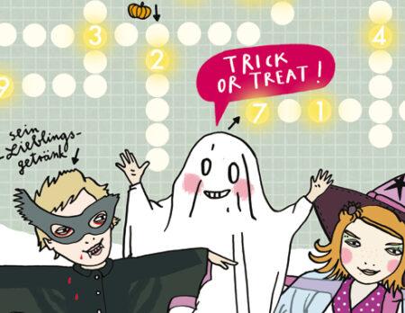 Happy Halloween-Kinderrätsel: Gruselkreuzwortträtsel von Silek Schmidt // HIMBEER