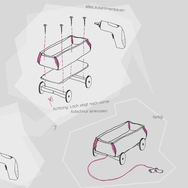 Schritt 3, DIY-Anleitung für ein DIY-Spielmobil aus Filz für kleine Kinder // HIMBEER