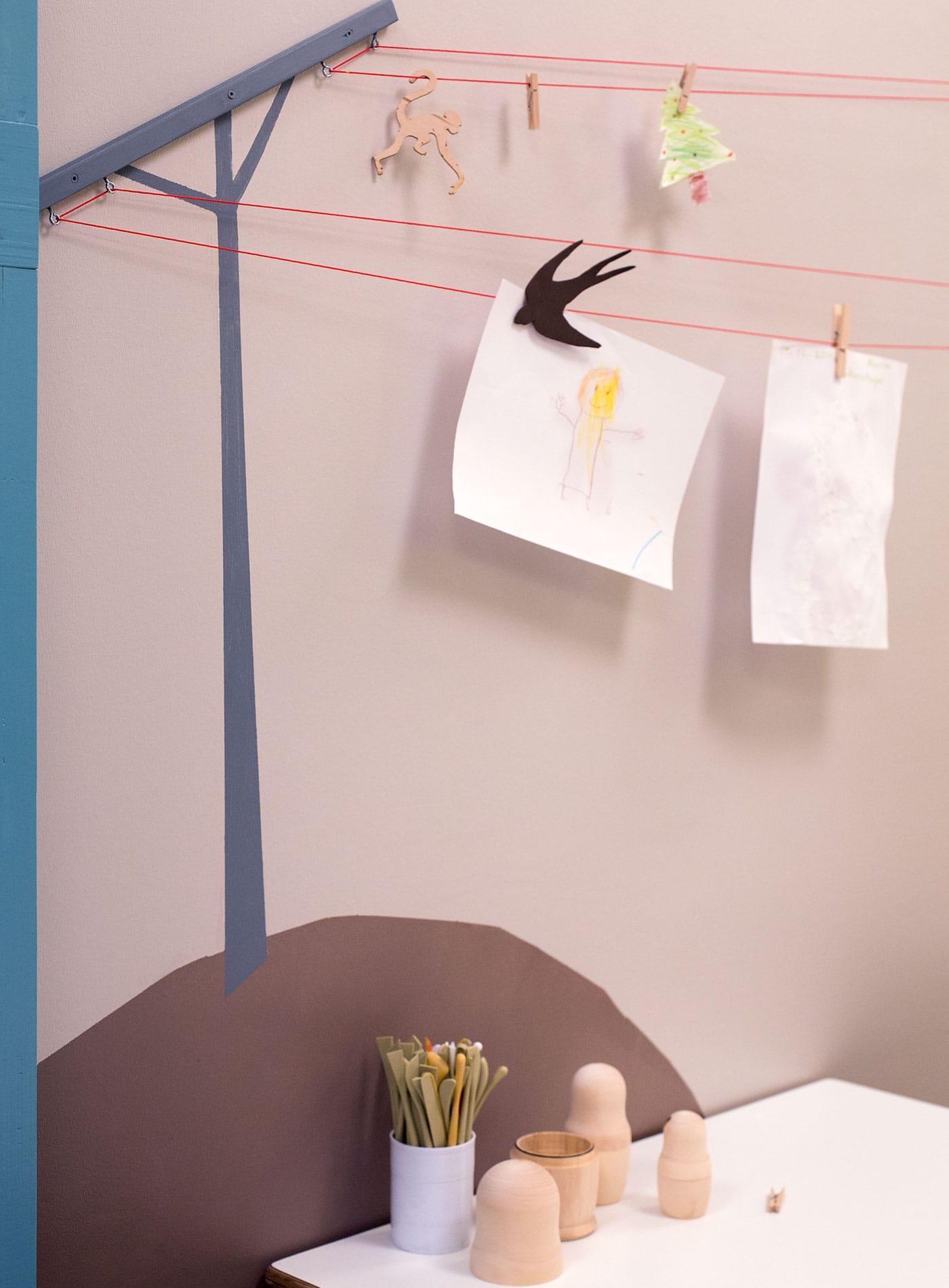 Raumkonzepter für Kinder: Wandgestaltung // HIMBEER