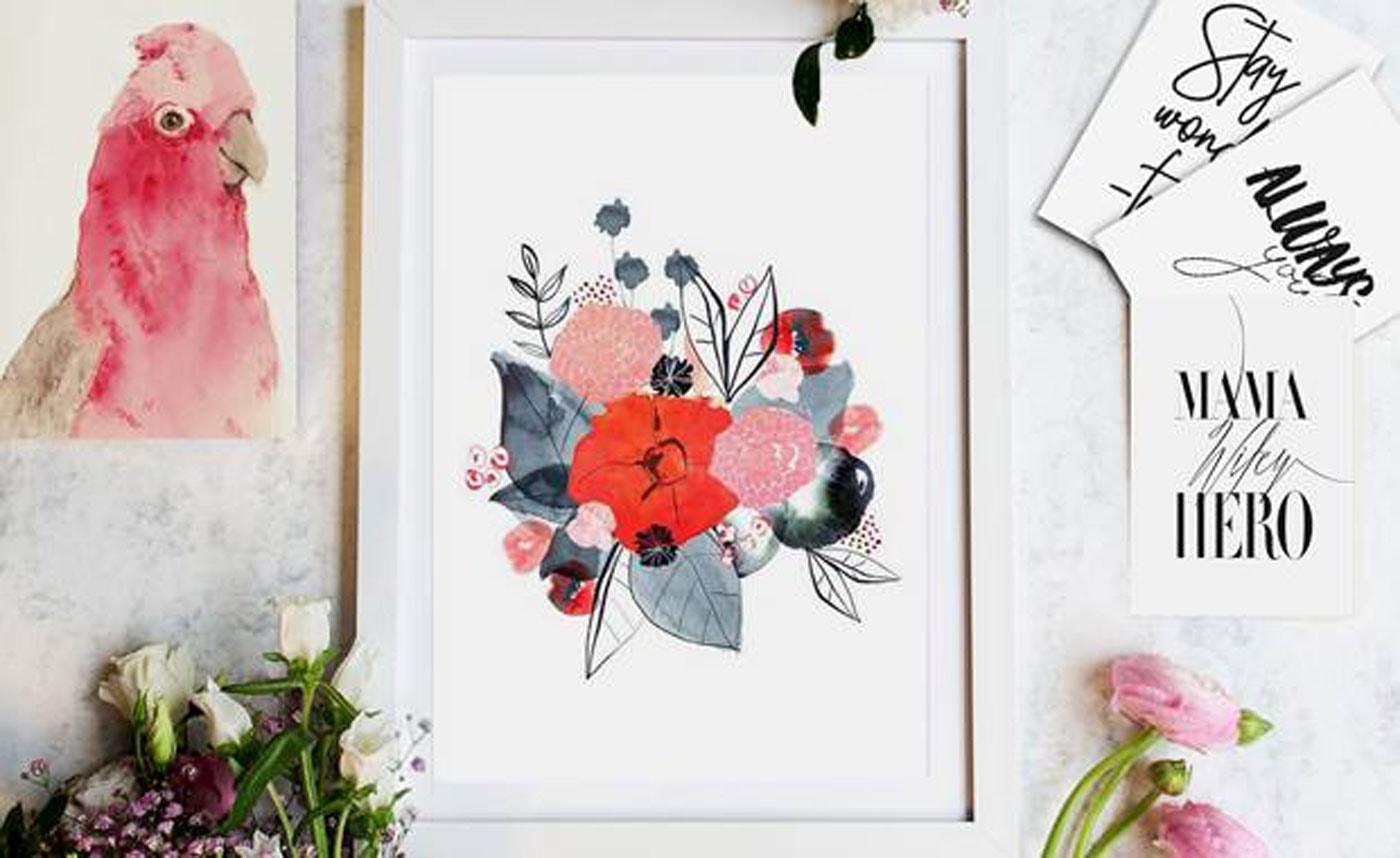 Blumenposter als Geschenk // HIMBEER