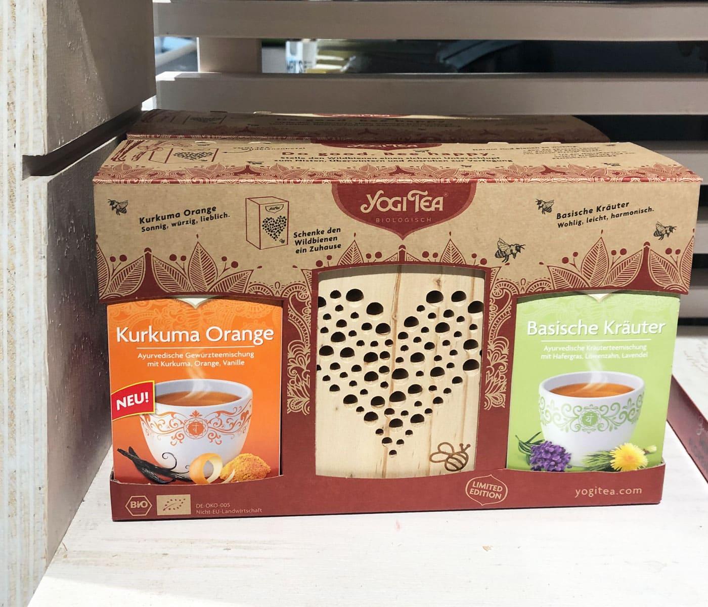 Muttertagsgeschenk: Yogi Tea-Set mit Bienenhotel // HIMBEER