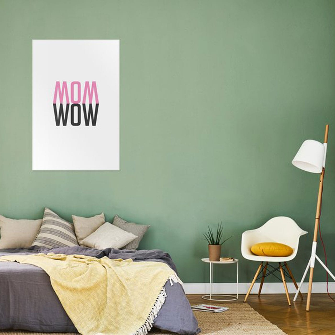 WOW MOM-Poster – tolles Geschenk für tolle Mamas // HIMBEER