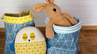 Nähanleitung Wachstuch-Taschen als Ordnungshelfer im Kinderzimmer // HIMBEER