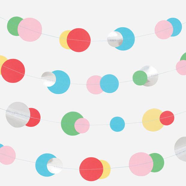 Demo für Kinderpartys: Bunte Bubbles-Girlande // HIMBEER
