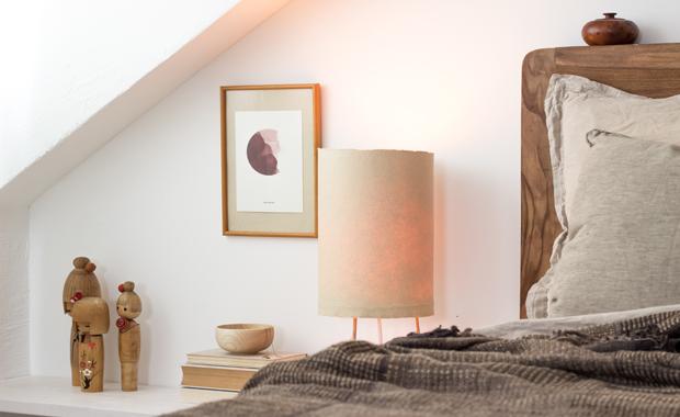 DIY: Japanische Nachttischlampe für ein schönes Zuhause // HIMBEER