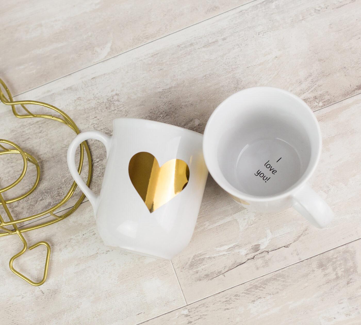 Geschenk für Mama: Kaffeetasse mit Liebesbotschaft // HIMBEER