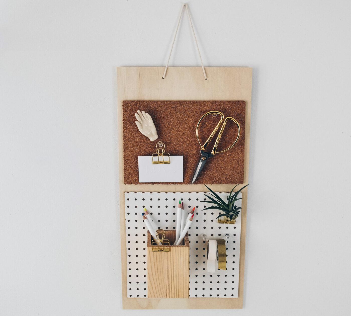 DIY-Wandorganizer: Bauanleitung für mehr Ordnung auf dem Schreibtisch