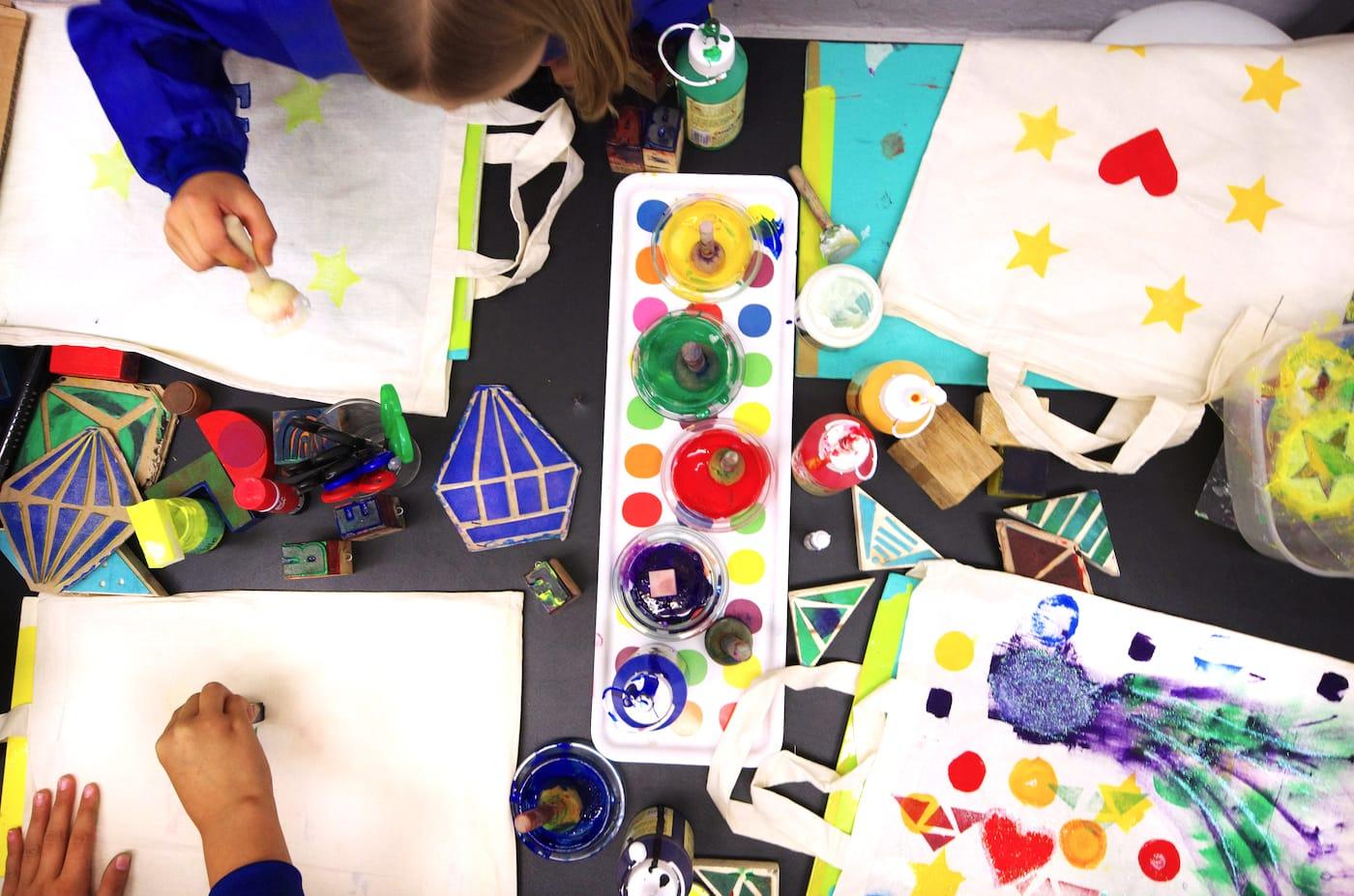 kreativ Kindergeburtstag feiern in Berlin im Grundschulalter bei Krumulus // HIMBEER