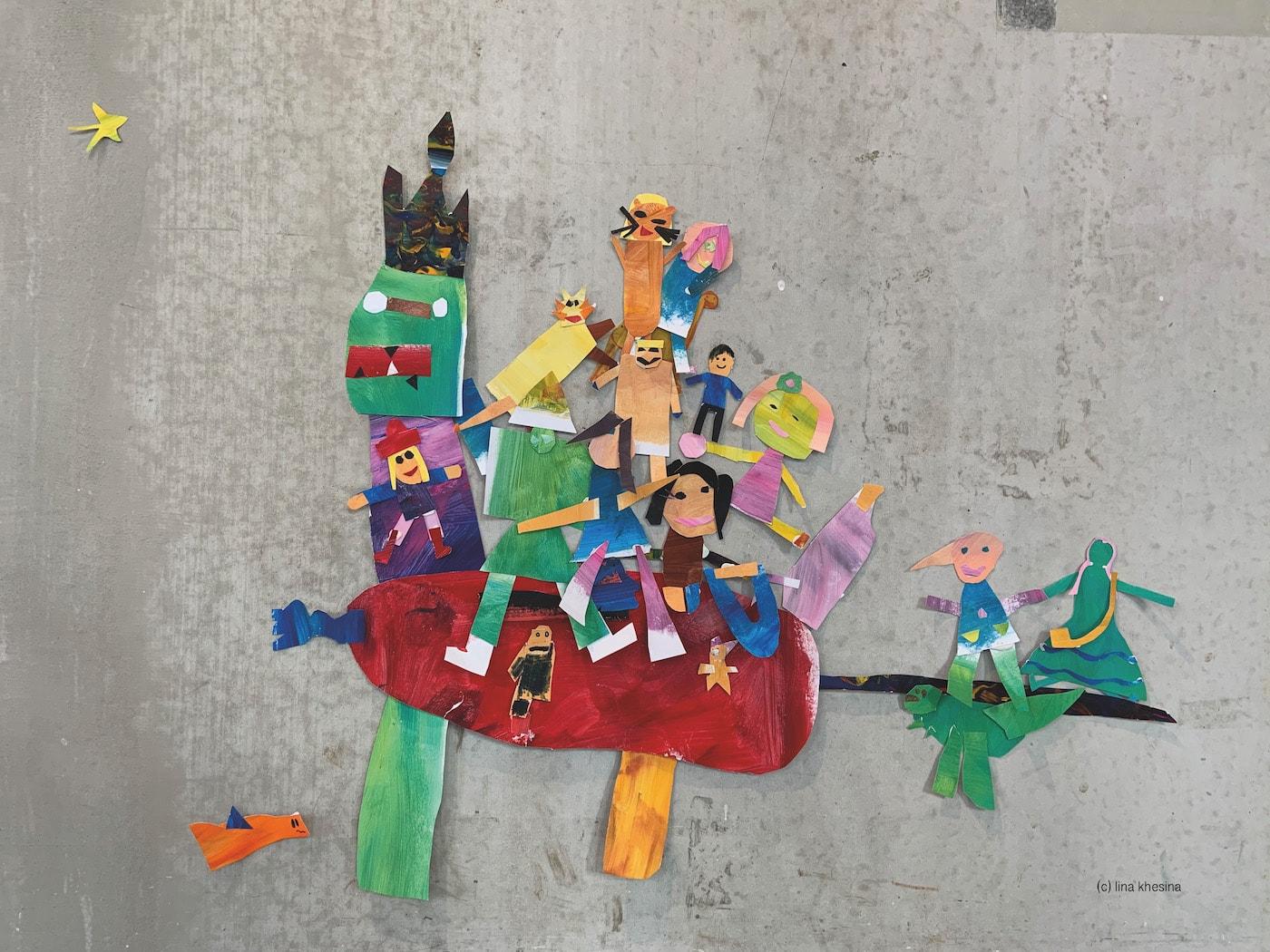 kreativer Bastel-Kindergeburtstag bei den Zuckerwattenkrawatten in Berlin im Grundschulalter c Lina Khesina // HIMBEER