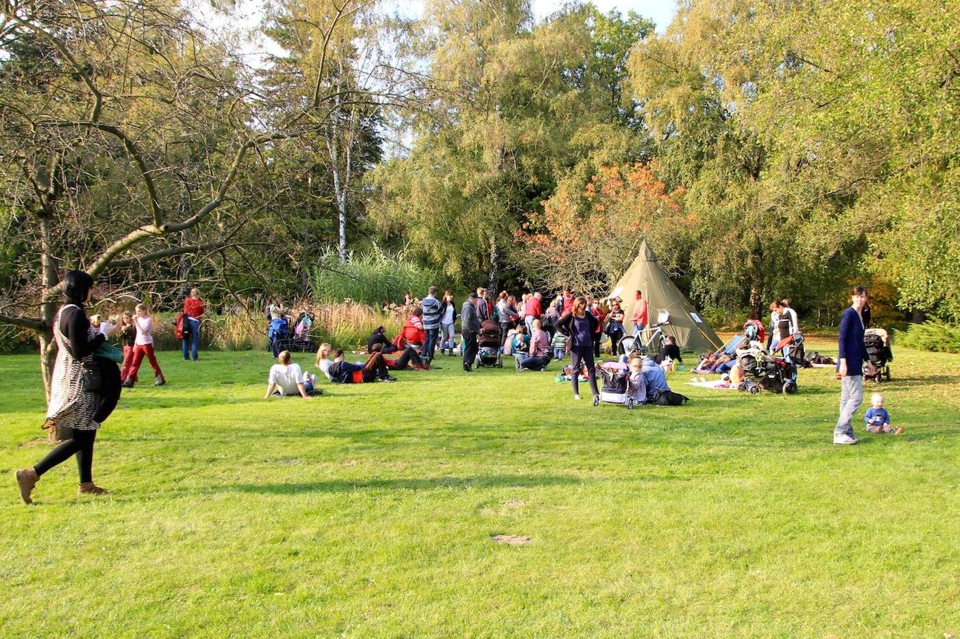 Herbstferien für Kinder in Berlin Kurse Botanischer Volkspark Pankow c Gruen Berlin // HIMBEER