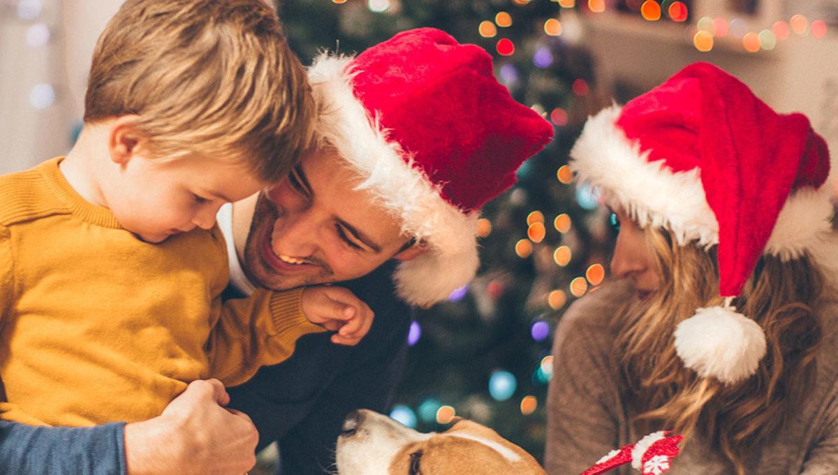 Familie Weihnachten   BERLIN MIT KIND