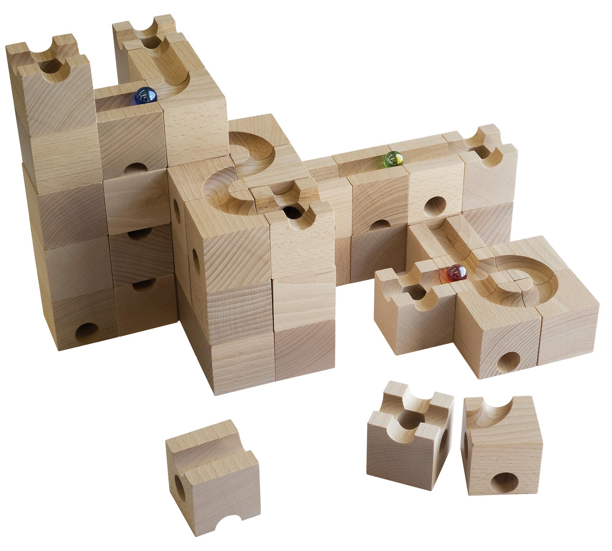 Kreatives Spielzeug für Kinder: Cuboro Kugelbahn // HIMBEER