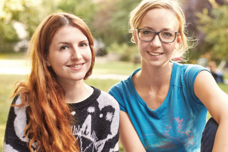 Kinder-App-Expertinnen Felicitas Haas und Martina Holler von Ene Mene Mobile