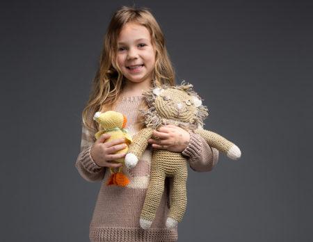 Gestrickter Löwe DIY-Kuscheltier | Berlin mit Kind