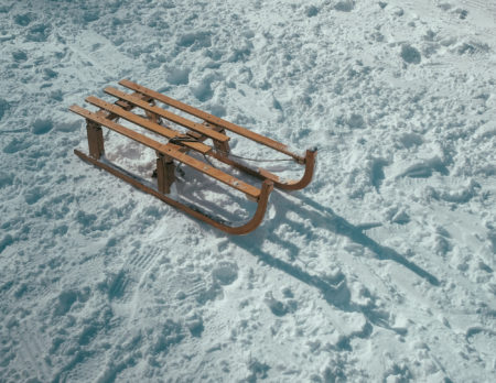 Schlitten und Schnee