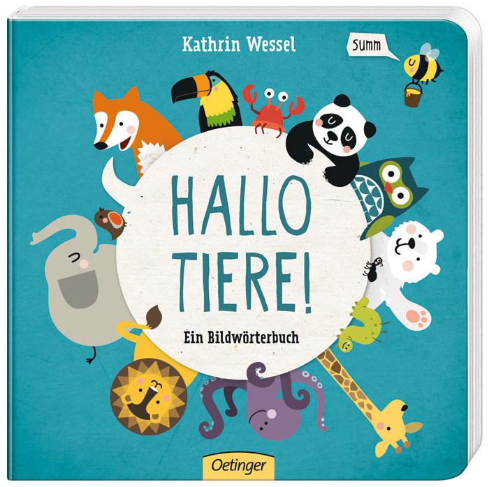 Kinderbuch-Tipp für Babys und Kleinkinder: Bildwörterbuch_Hallo Tiere aus dem Oetinger-Verlag