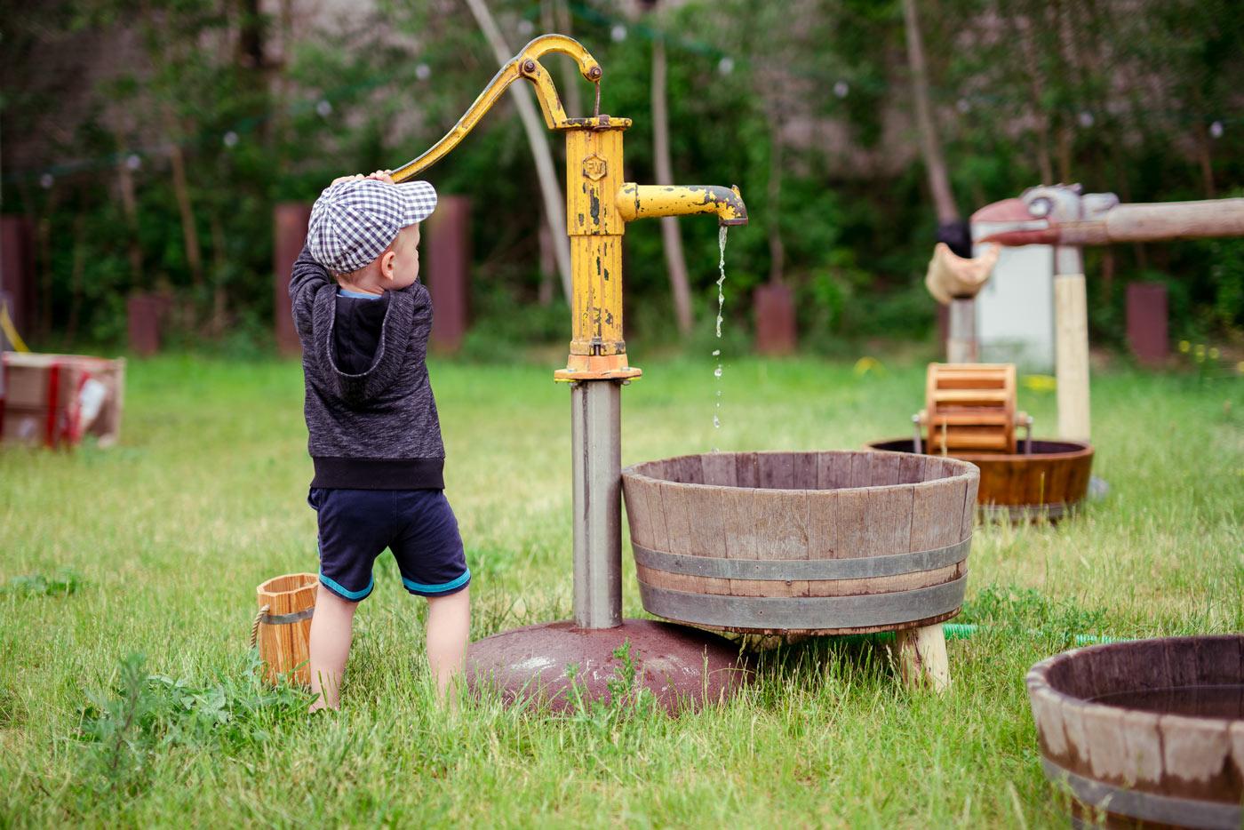 Wasserspielplatz auf dem Festival Malzwiese | Berlin mit Kind