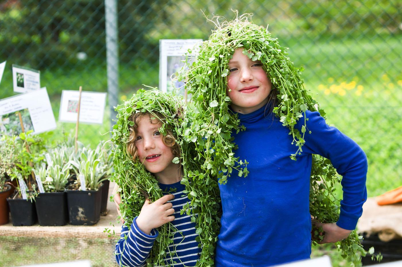 Pflanzen auf dem Kopf | berlinmitkind.de