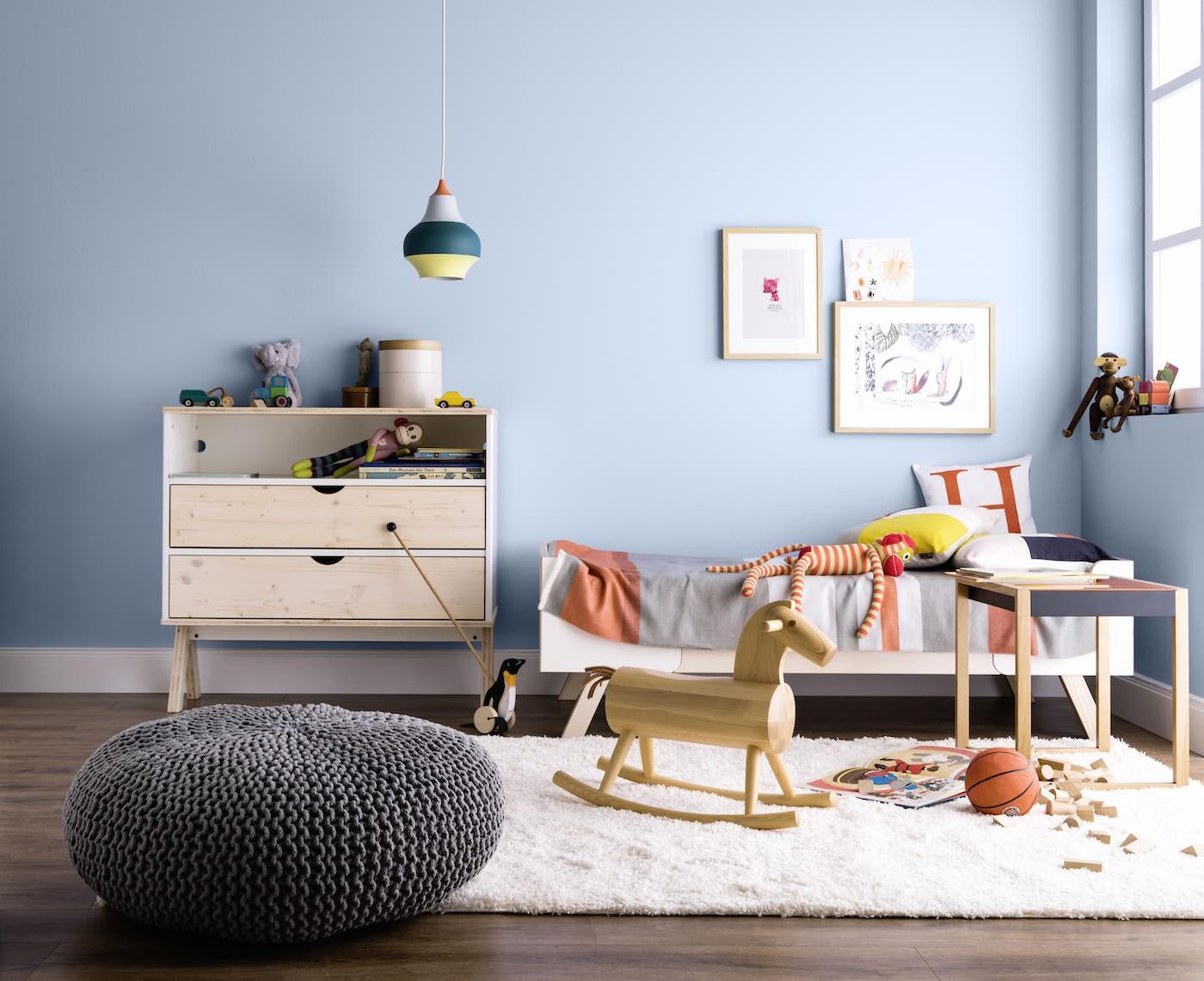 Kinderzimmer in Quellblau | Berlin mit Kind