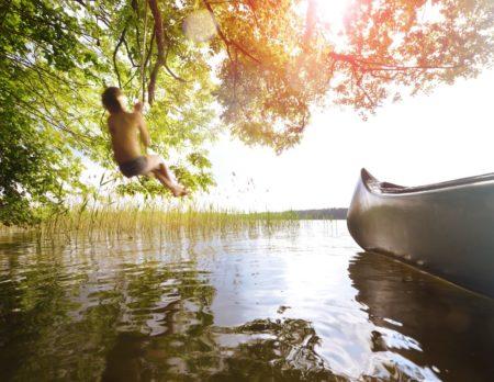 In den See springen | Berlin mit Kind