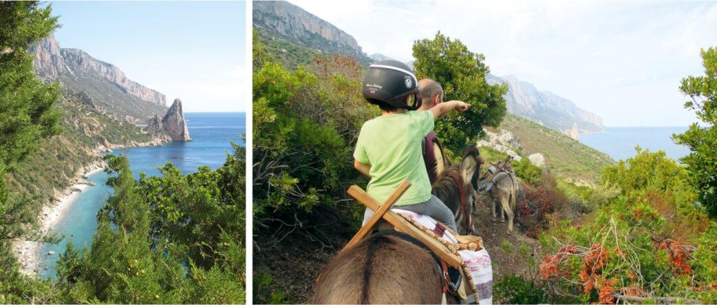 Eselwanderung auf Sizilien Kind auf Esel an Küste | München mit Kind