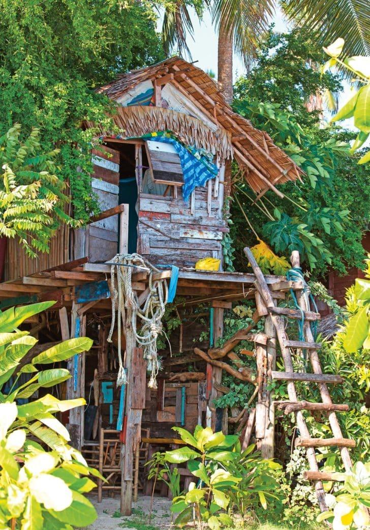 Turbo Baut euch eine Hütte aus Paletten und malt sie bunt mit Schwedenfarbe LS67