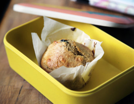 Rezepte für die Brotbox für Kinder in Kita oder Schule: Muffin // HIMBEER