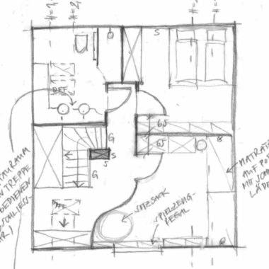 Inneneinrichtung Skizze von einem Kinderzimmer // HIMBEER