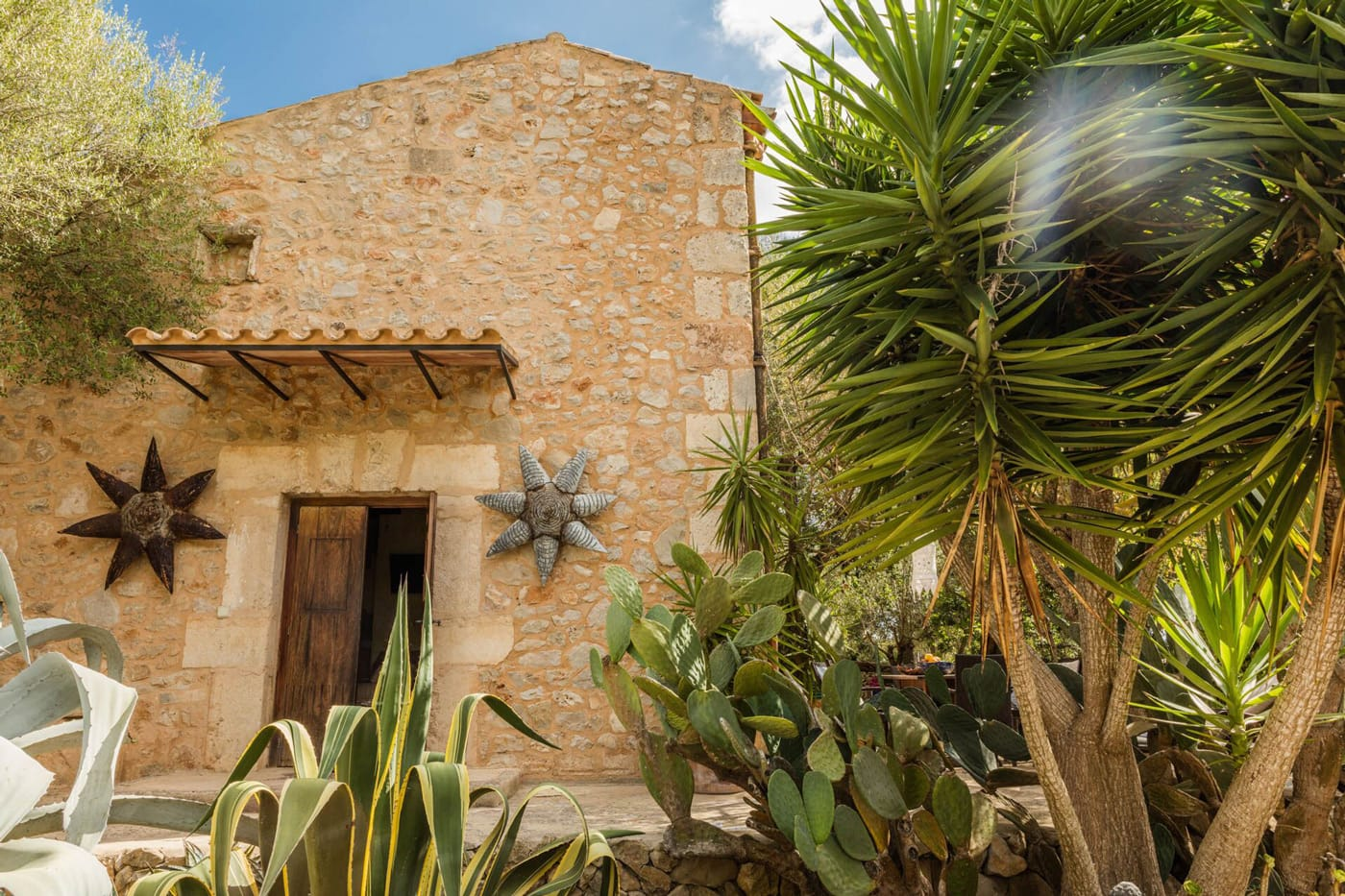 Finca auf Mallorca mit Sukkulenten