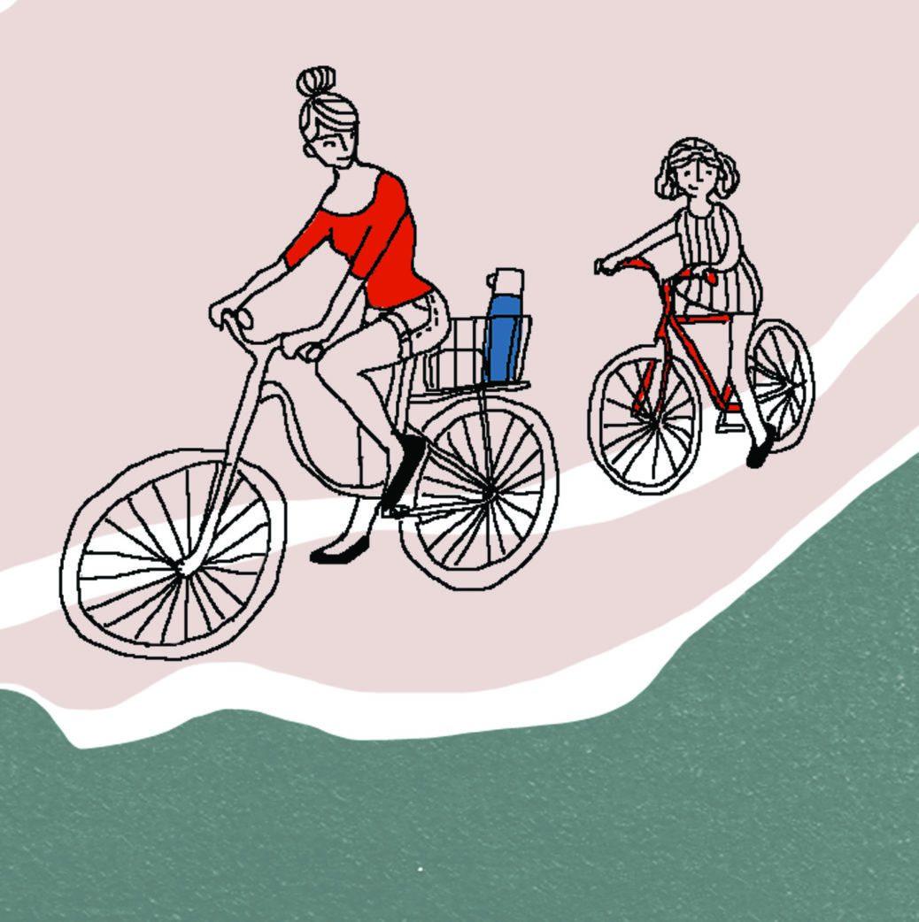 Berlin mit Kind: Familienausflug an den Wannsee mit dem Fahrrad // HIMBEER