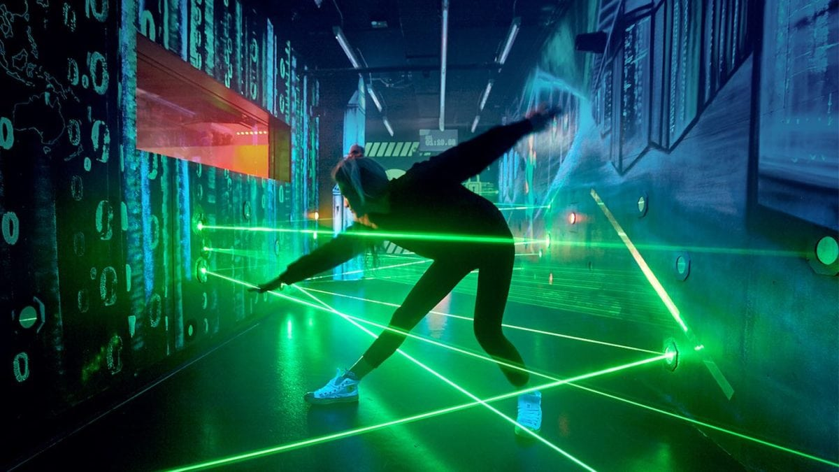 Laserparcours im Spionagemuseum // Berlin