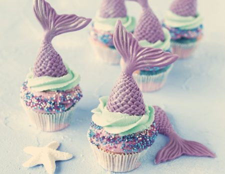 Meerjungfau Cupcakes // HIMBEER