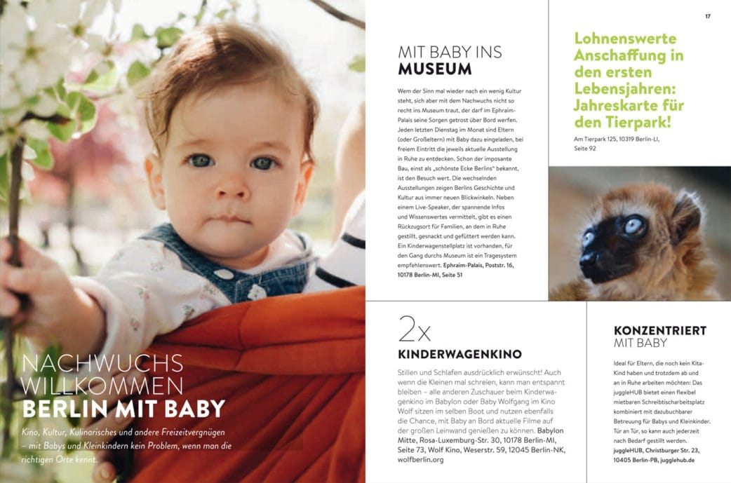 BERLIN MIT KIND 2019 – Der Familien-Freizeit-Guide aus dem HIMBEER Verlag mit den besten Tipps: Berlin mit Babys und Kleinkindern // HIMBEER