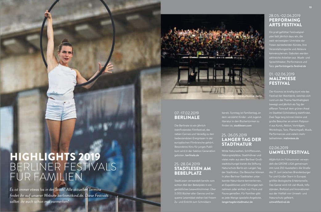 BERLIN MIT KIND 2019 – Der Familien-Freizeit-Guide aus dem HIMBEER Verlag mit den besten Tipps: Festivals für Familien in Berlin 2019 // HIMBEER